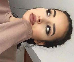 girls, make up, and tumblr image
