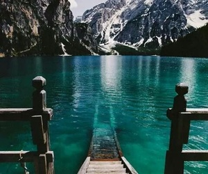 blue water and lake image