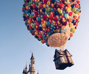 disney, up, and balloons image