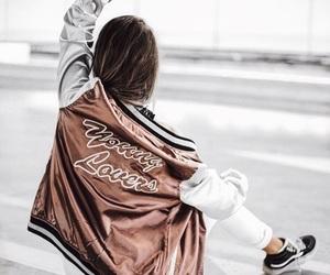 bronze, girl, and jacket image
