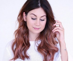 hair, rosegold, and inspiration image