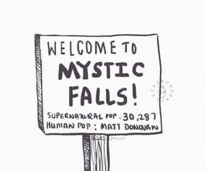 the vampire diaries, vampire, and mystic falls image
