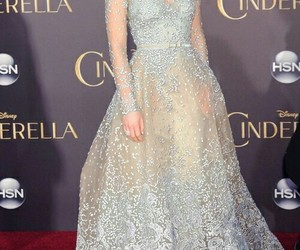 lily james, cinderella, and dress image