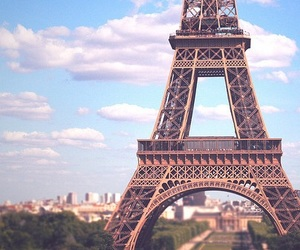 clouds, eiffel, and france image