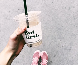 beauty, coffee, and girl image