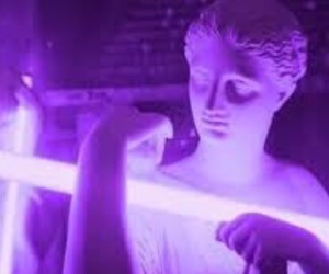 purple, statue, and aesthetic image