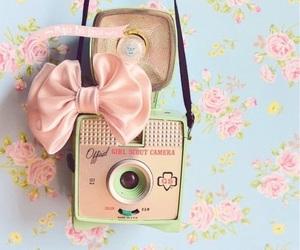 vintage, camera, and pink image