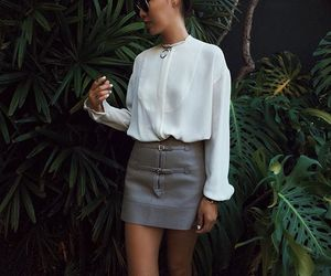 blogger, outfit, and skirt image
