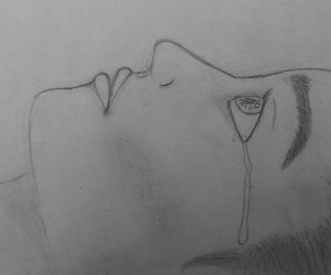 black and white, cry, and draw image
