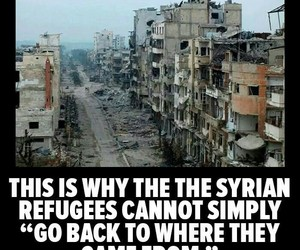 syria, refugees, and war image