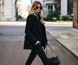 fashion, girl, and allblack image