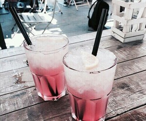 cold, drinks, and pink image