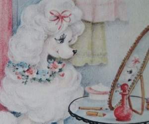 poodle and powder room image