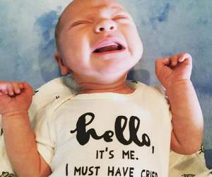 baby, cry, and hello image