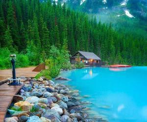 lake, canada, and house image