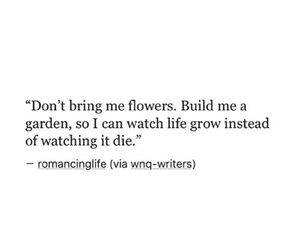 quote, garden, and flowers image