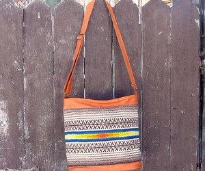 etsy, leather handbag, and handmade bag image