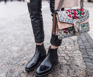 blogger, fashion, and leather image