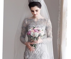 beauty, bride, and crown image