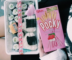 pocky, food, and sushi image