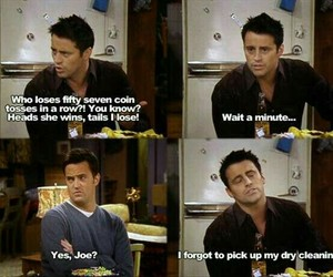 funny, Joey, and coin toss image