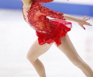 figure skating, ice, and ice skating image