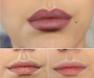lips, lipstick, and tutorial image