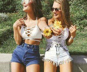 summer, best friends, and friendship image
