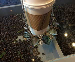 bling, coffee, and jewelry image