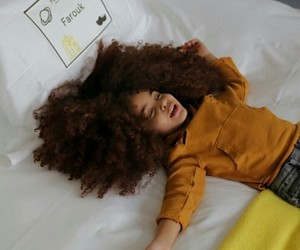curly hair, fro, and kid image