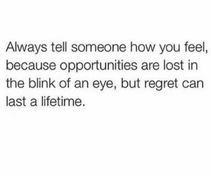 quote, feelings, and regret image