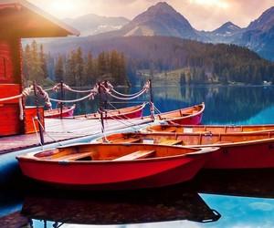 boats and lake image