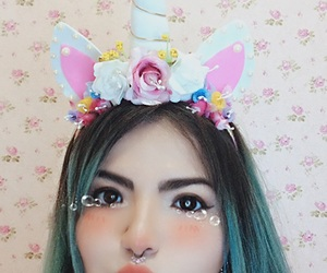 accessories, kawaii, and coloredhair image