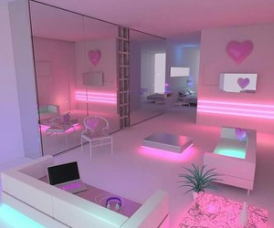 pink, room, and light image