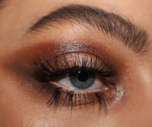 makeup, eye, and eyebrows image