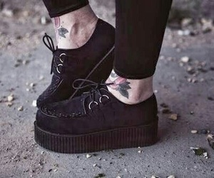 black, shoes, and creepers image