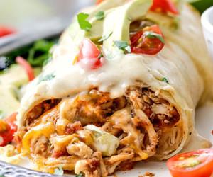bake, burrito, and Chicken image