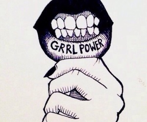 girl power, power, and lips image