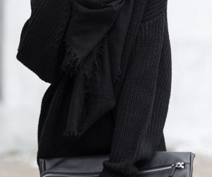 black, cold, and fashion image