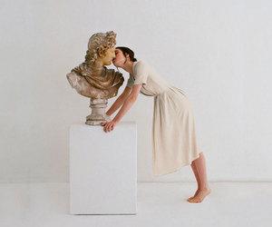 kiss, art, and white image