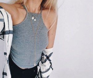 fashion, necklace, and ootd image