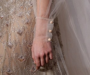 Couture, white dress, and details image