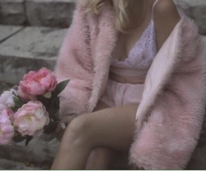 baby pink, boobs, and fur image