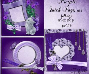 frames, purple, and lavender image