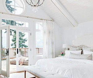 white, home, and bedroom image