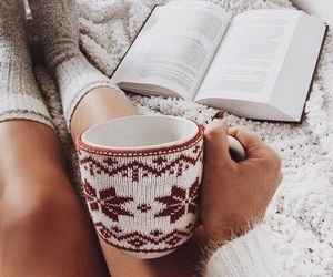 book, winter, and cozy image