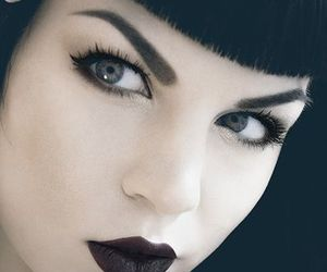 eyeliner, goth, and makeup image