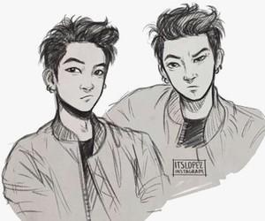 art, boy, and hair image