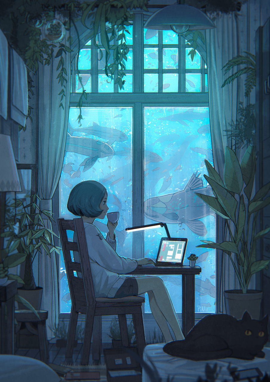 art, anime, and blue image