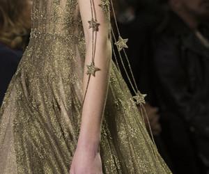 fashion, dress, and gold image